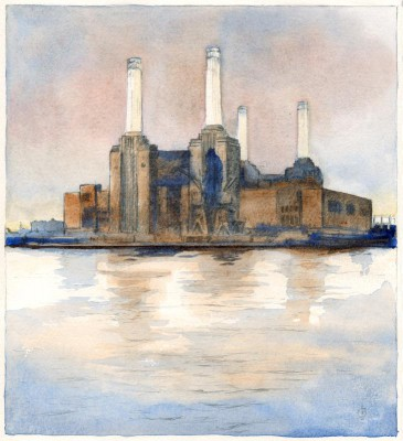 Battersea Power Station London by Christina Bonnett