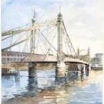 Albert Bridge London - a watercolour by Christina Bonnett