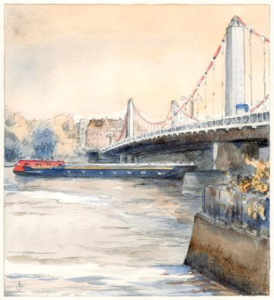Chelsea Bridge London by Christina Bonnett