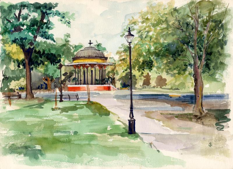 The Bandstand on Clapham Common by Christina Bonnett