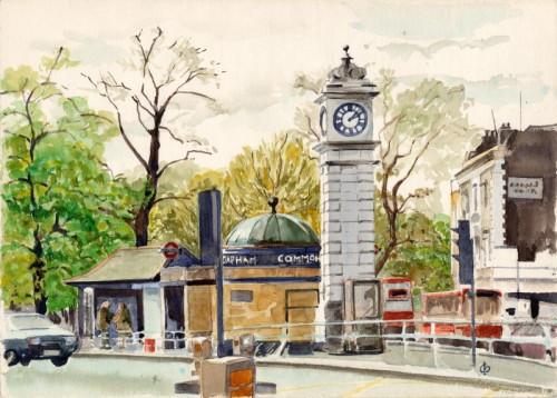Clocktower at Clapham Common Tube by Christina Bonnett