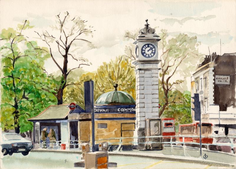 Clocktower at Clapham Common Tube by Christina Bonnett