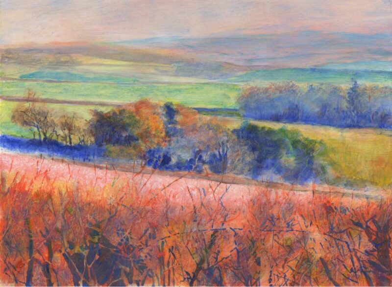 Over Red Hedge painting