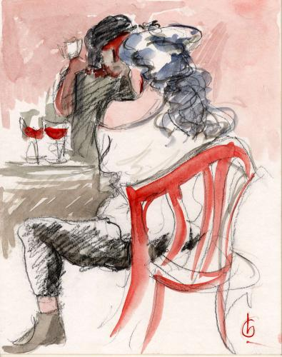 Lovers in Cafe