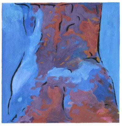 Bottom Blue painting