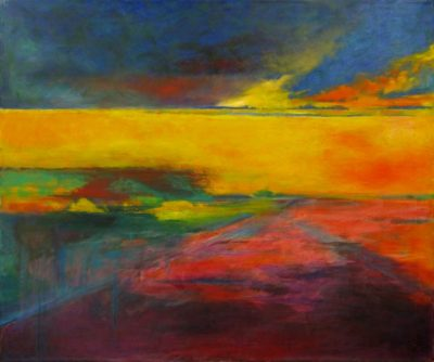 Fiery Plain Painting by Christina bonnett