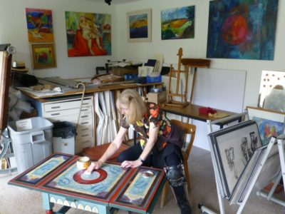 Christina Bonnett in Studio