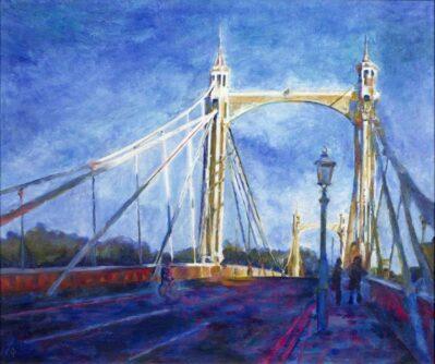 Albert-Bridge-Evening by Christina Bonnett