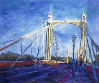 Albert-Bridge-Evening by Christina Bonnett