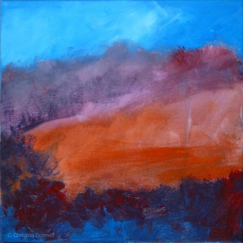 Red Blue Background Canvas