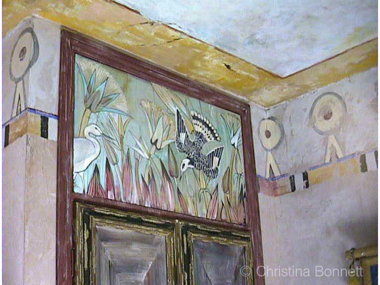 Egyptian Birds Bathroom Mural