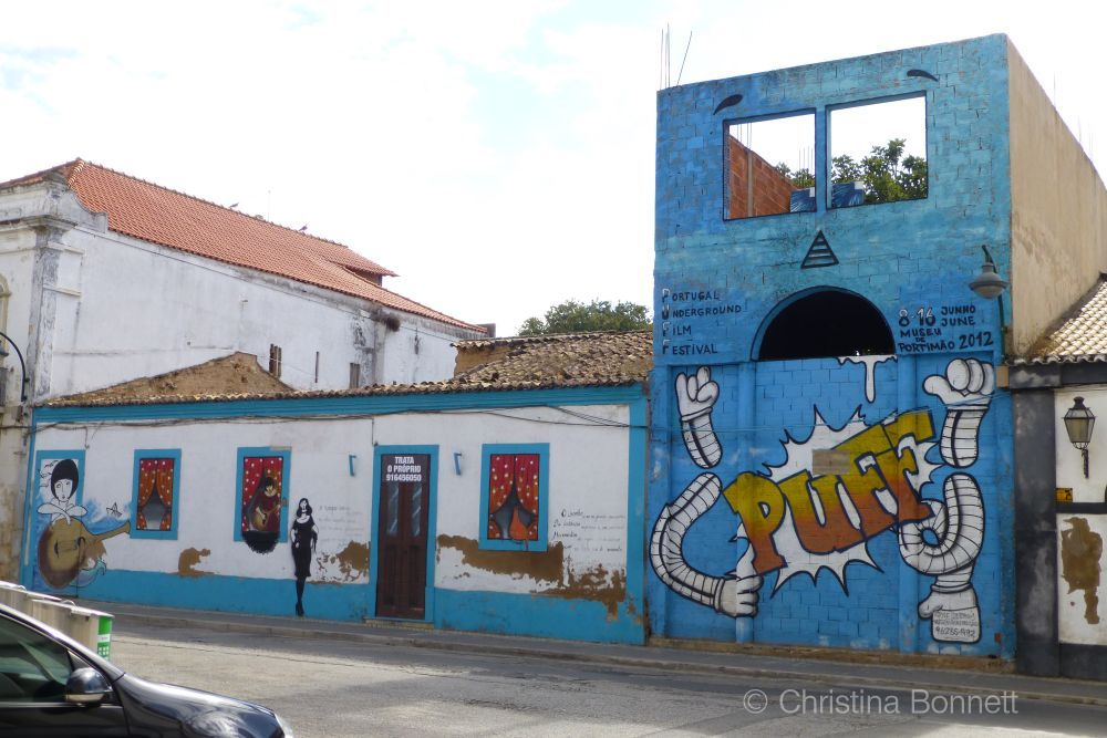 Portimao derelict building mural