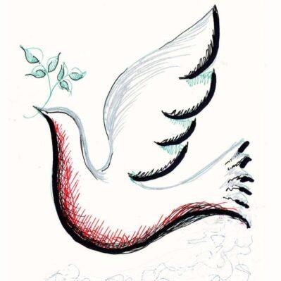Dove of Peace Card design
