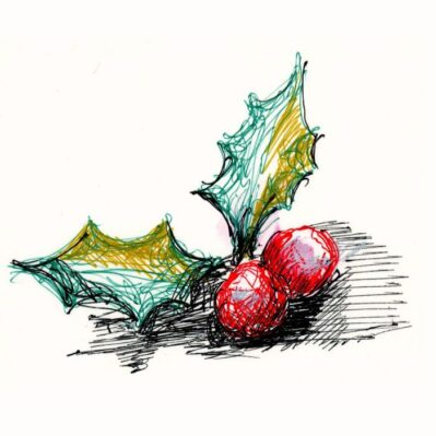 Holly Berries Card design