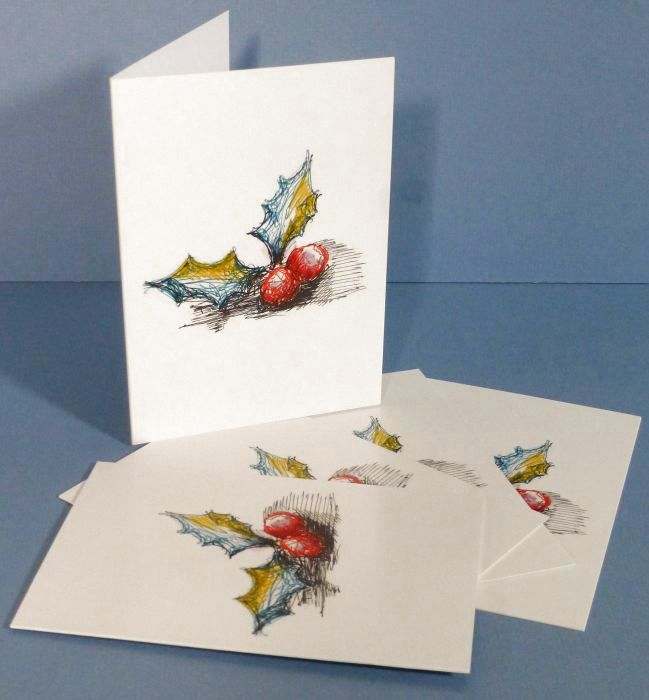 Holly Berries Greeting Cards 5