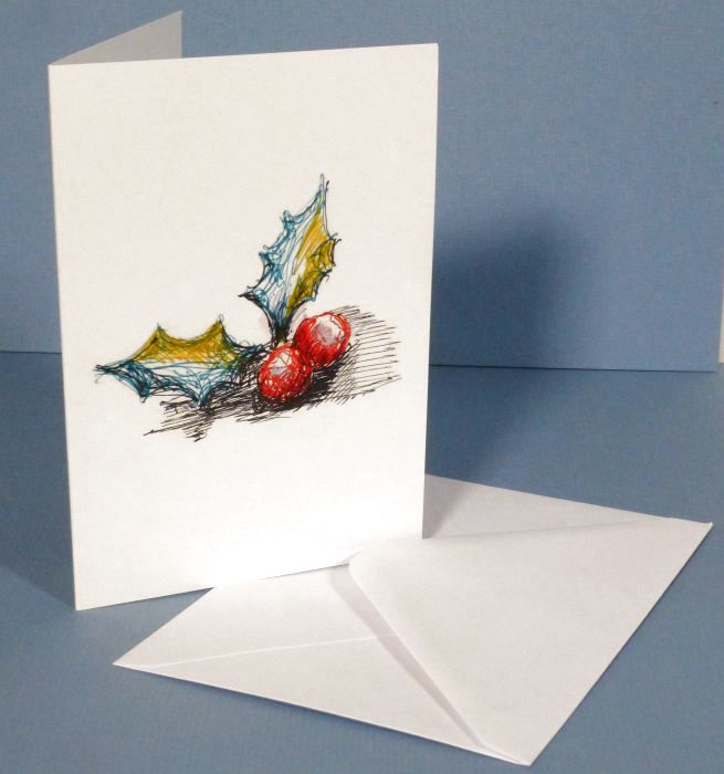 Holly Berries Card and envelope
