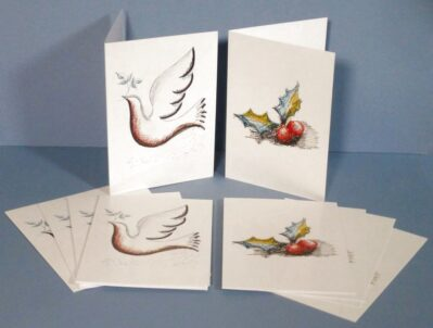 Dove and Holly Greeting Cards Pack