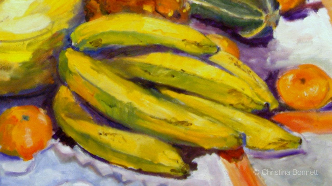 Detail of Bananas in Painting