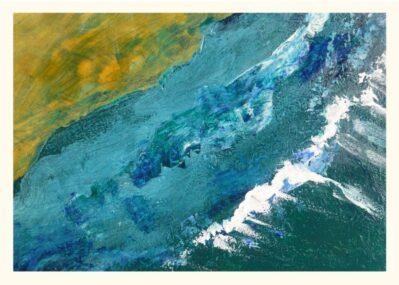 Shoreline Waves Greeting card