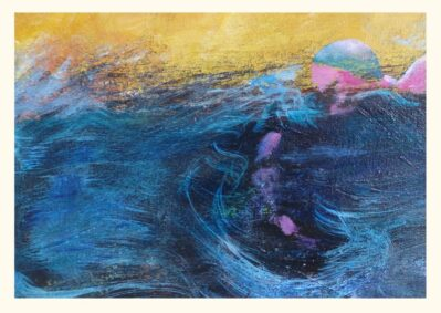 Sea Wim Blue Greeting card