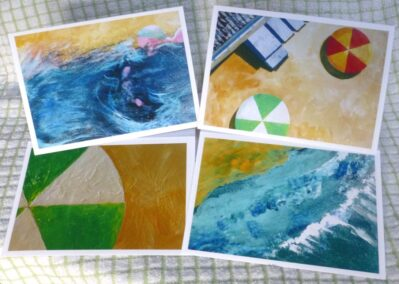 Set of cards, Summer paint