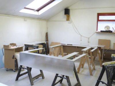 panels in gilding room